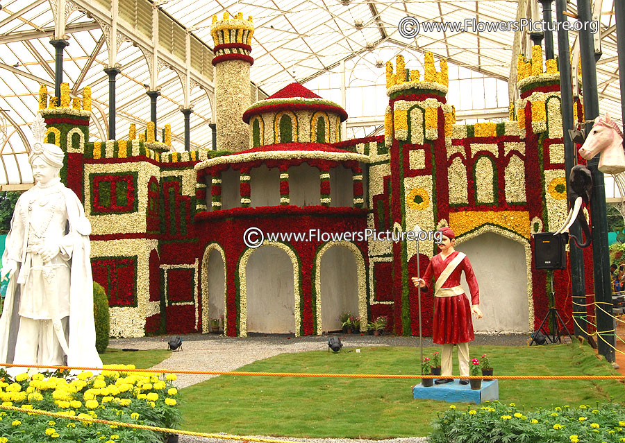 Bangalore palace replica-floral creation