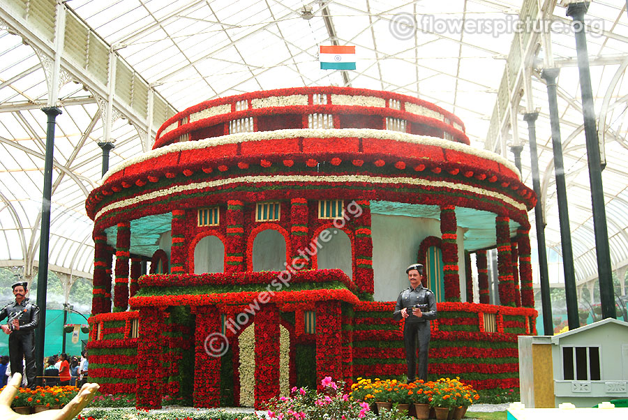Floral Replica of Parliament House-Lalbagh flower show august 2016