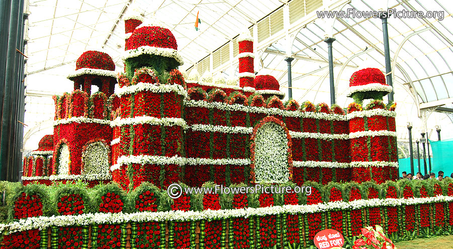 The red fort-delhi-Flower decoration