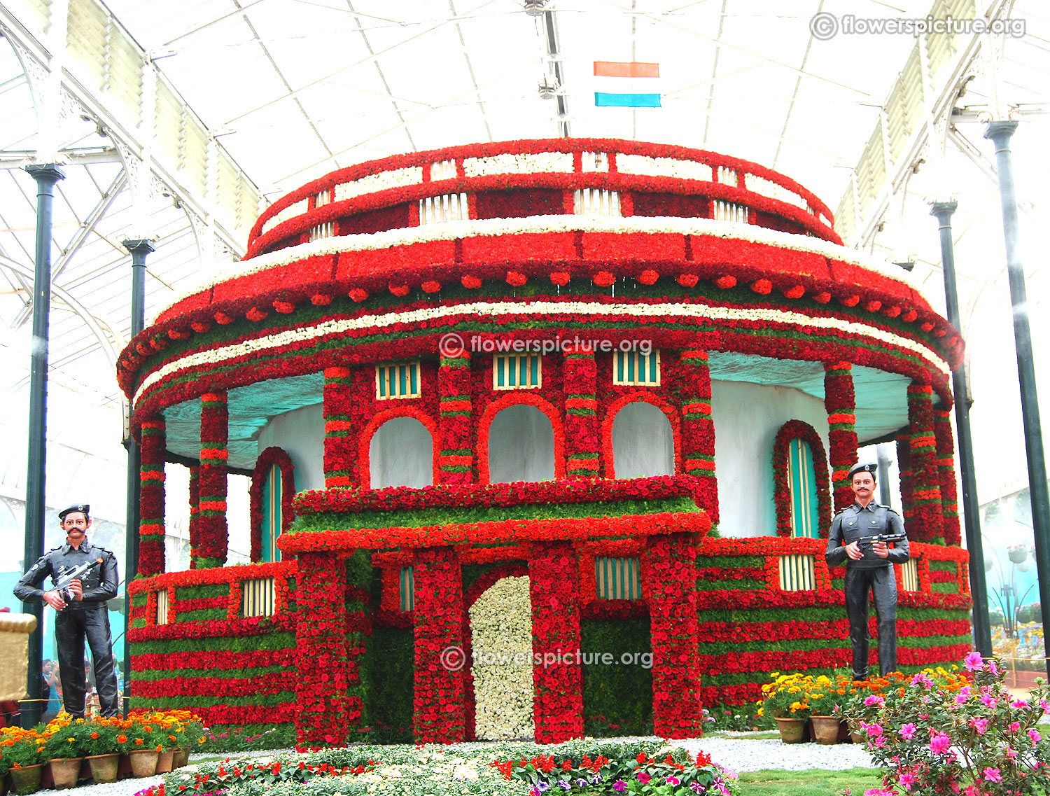 c364b8b593df Lalbagh Flower Show August 2016 Photos-Independence Day Special
