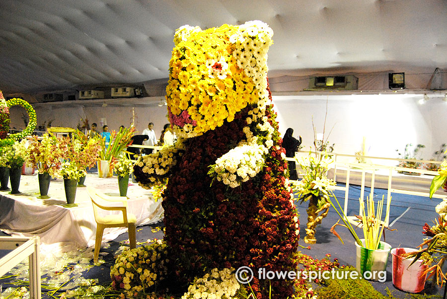 Flower polar bear